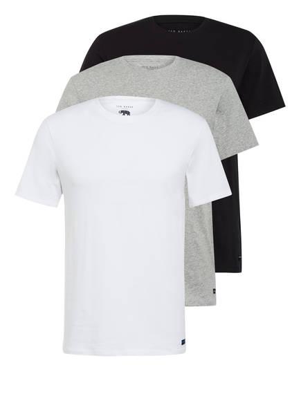 TED BAKER 3er-Pack T-Shirts, Farbe: WEISS/ GRAU/ SCHWARZ (Bild 1)