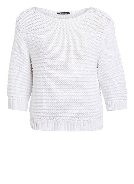 Marc O'Polo Pullover mit 3/4-Arm, Farbe: WEISS (Bild 1)