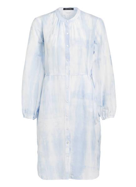 Marc O'Polo Kleid mit Seide, Farbe: HELLBLAU/ WEISS (Bild 1)