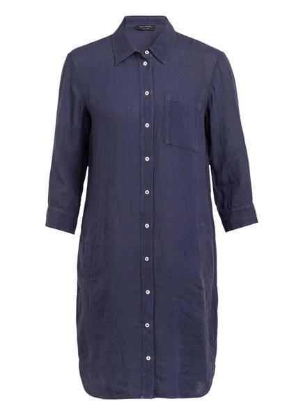 Marc O'Polo Hemdblusenkleid aus Leinen, Farbe: DUNKELBLAU (Bild 1)
