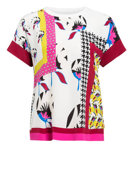 MARC CAIN Blusenshirt im Materialmix mit Seide, Farbe: 268 pop pink (Bild 1)