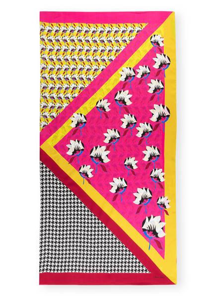 MARCCAIN Seidentuch, Farbe: GELB/ DUNKELROT/ PINK (Bild 1)