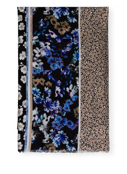 MARC CAIN Schal mit Seide, Farbe: SCHWARZ/ TAUPE/ WEISS (Bild 1)
