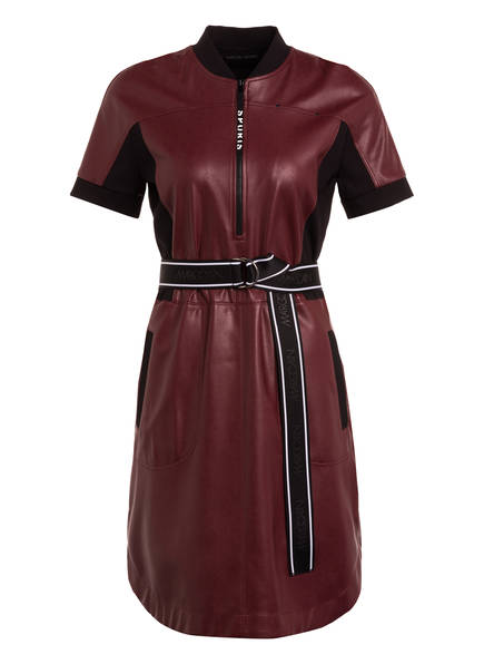 MARC CAIN Kleid in Lederoptik, Farbe: 282 cabernet (Bild 1)