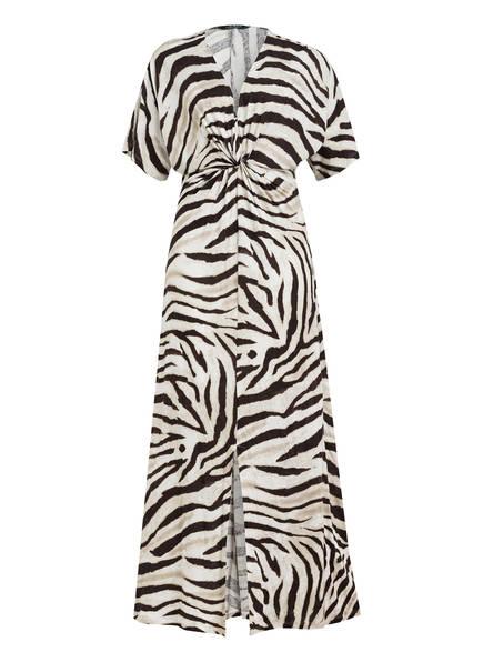 LAUREN RALPH LAUREN Kleid mit Leinen, Farbe: DUNKELBRAUN/ CREME/ BEIGE (Bild 1)