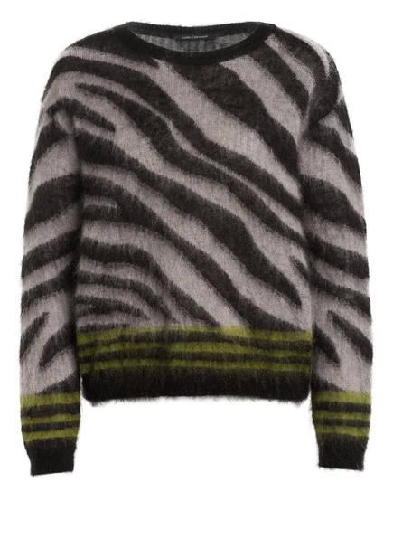 LUISA CERANO Pullover mit Mohair, Farbe: SCHWARZ/ GRAU/ GRÜN (Bild 1)