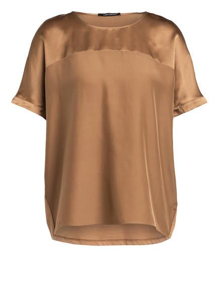 LUISA CERANO Blusenshirt mit Seide im Materialmix, Farbe: HELLBRAUN (Bild 1)