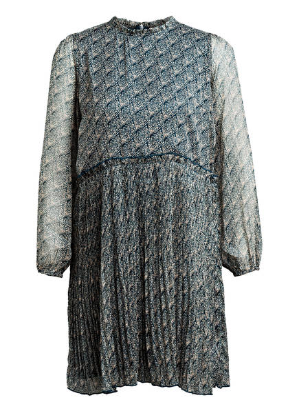 NEO NOIR Kleid mit Rüschenbesatz, Farbe: PETROL/ CREME (Bild 1)