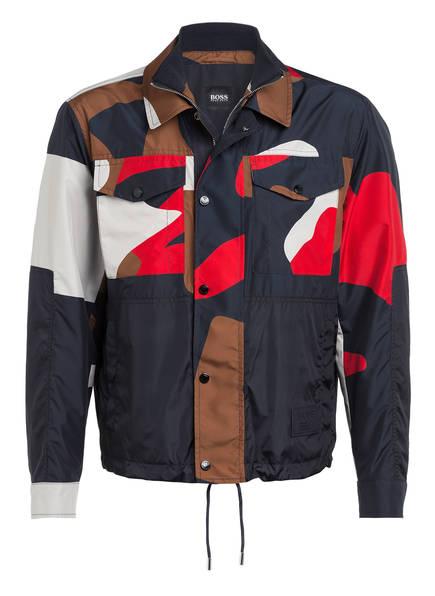 BOSS Fieldjacket CULIVER , Farbe: DUNKELBLAU/ ROT/ ECRU (Bild 1)