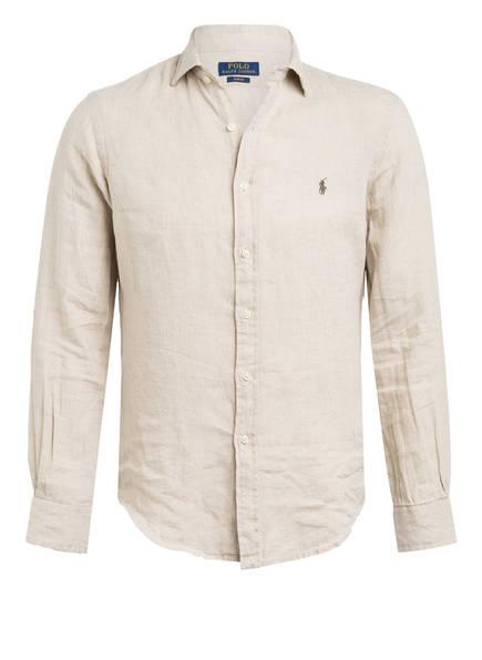 POLO RALPH LAUREN Leinenhemd Slim Fit , Farbe: BEIGE (Bild 1)