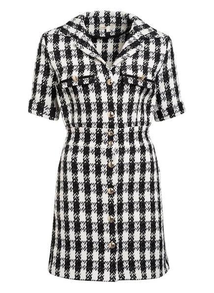 maje Tweed-Hemdblusenkleid RICKY , Farbe: SCHWARZ/ WEISS (Bild 1)