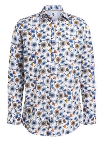 R2 Amsterdam Hemd Tailored Fit, Farbe: WEISS/ BLAU/ ORANGE (Bild 1)