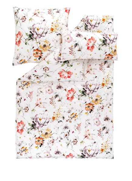 ESTELLA Bettwäsche BELLA mit zusätzlicher Kissenhülle, Farbe: WEISS/ TAUPE/ HELLROT (Bild 1)
