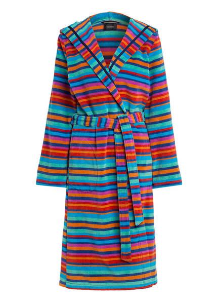 Cawö Damen-Bademantel mit Kapuze, Farbe: ROT/ GRÜN/ BLAU (Bild 1)