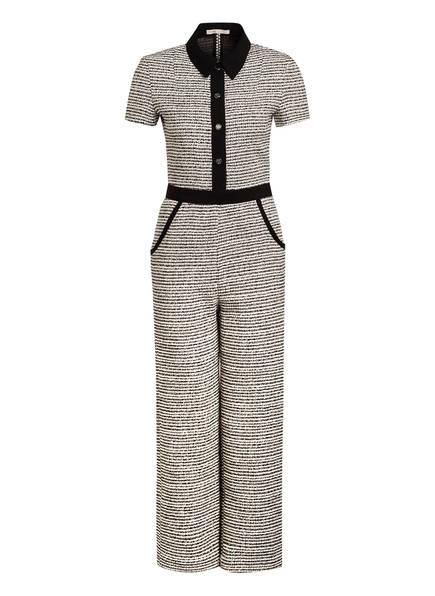 maje Tweed-Jumpsuits PENALA, Farbe: SCHWARZ/ WEISS (Bild 1)