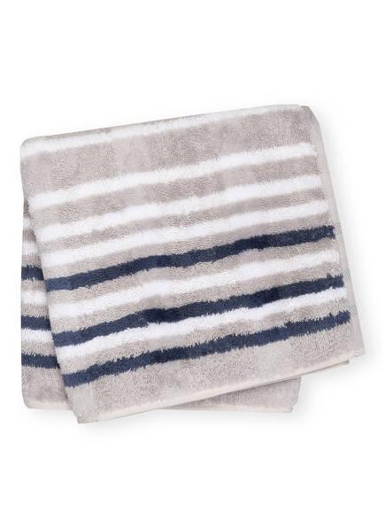 Cawö Handtuch NOBLESSE LINES , Farbe: GRAU/ WEISS/ BLAUGRAU (Bild 1)