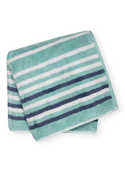 Cawö Handtuch NOBLESSE LINES , Farbe: MINT/ HELLGRAU/ BLAUGRAU (Bild 1)