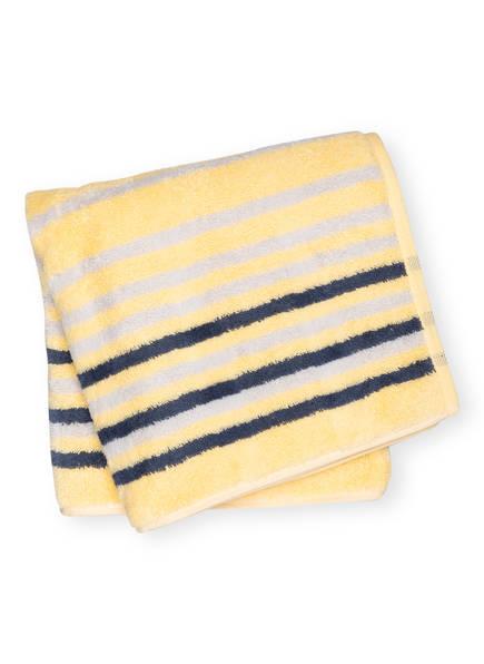 Cawö Handtuch NOBLESSE LINES , Farbe: GELB/ HELLGRAU/ GRAU (Bild 1)