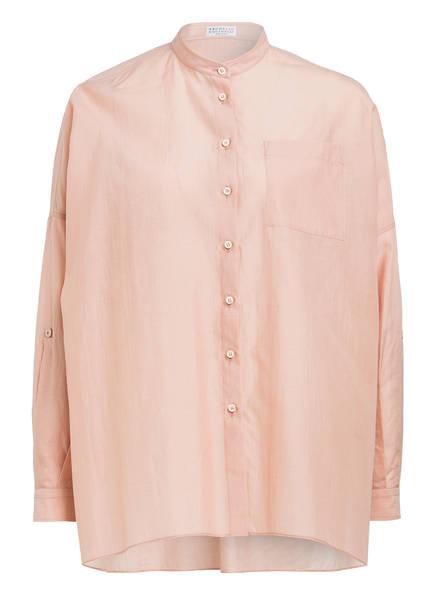 BRUNELLO CUCINELLI Bluse mit Seide, Farbe: NUDE (Bild 1)
