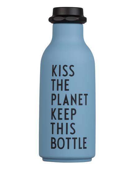 DESIGN LETTERS Trinkflasche TO GO, Farbe: BLAUGRAU (Bild 1)