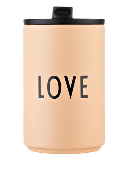 DESIGN LETTERS Thermobecher LOVE, Farbe: NUDE (Bild 1)