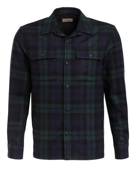 Nudie Jeans Flanellhemd STEN Comfort Fit, Farbe: DUNKELBLAU/ GRÜN (Bild 1)