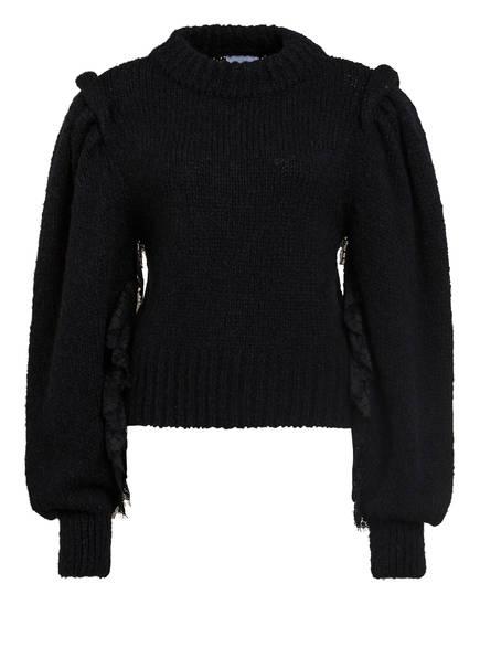HAYLEY MENZIES Pullover mit Spitzenbesatz, Farbe: SCHWARZ (Bild 1)