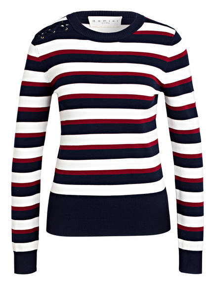 damsel in a dress Pullover SAKURA, Farbe: DUNKELBLAU/ WEISS/ DUNKELROT (Bild 1)