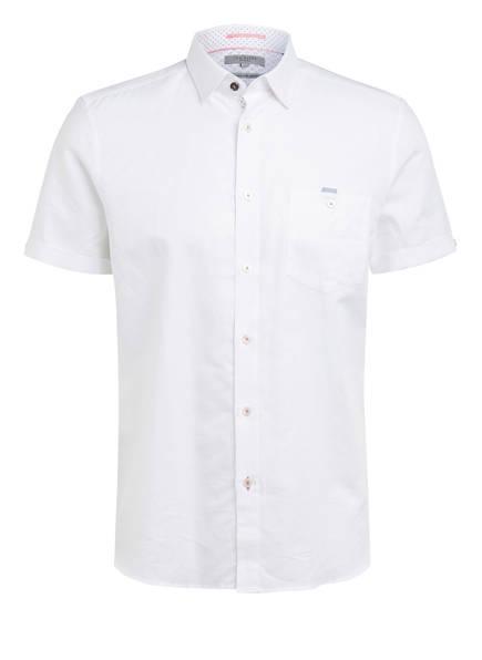 TED BAKER Halbarm-Hemd HAVEFUN Slim Fit mit Leinen, Farbe: WEISS (Bild 1)