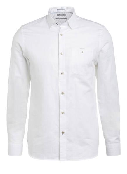 TED BAKER Hemd TIPTOE Extra Slim Fit mit Leinen, Farbe: WEISS (Bild 1)