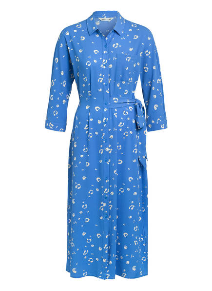 WHISTLES Hemdblusenkleid, Farbe: BLAU/ WEISS (Bild 1)