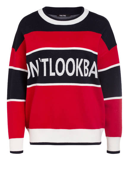 MARC AUREL Oversized-Pullover, Farbe: DUNKELBLAU/ ROT/ WEISS (Bild 1)