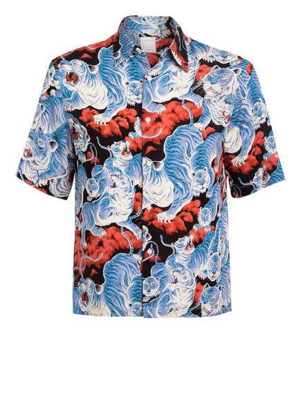 sandro Halbarm-Hemd Slim Fit, Farbe: HELLBLAU/ WEISS/ ROT/ BRAUN (Bild 1)