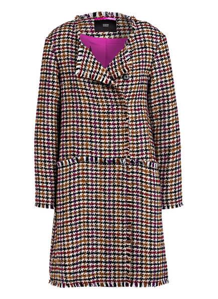 STEFFEN SCHRAUT Tweed-Mantel, Farbe: CREME/ CAMEL/ DUNKELROT (Bild 1)