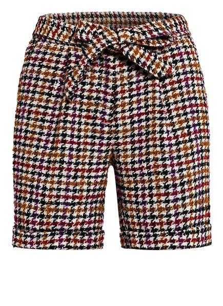 STEFFEN SCHRAUT Tweed-Shorts, Farbe: CREME/ CAMEL/ DUNKELROT (Bild 1)