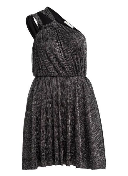 maje One-Shoulder-Kleid RIANE mit Glitzergarn , Farbe: SCHWARZ/ SILBER (Bild 1)