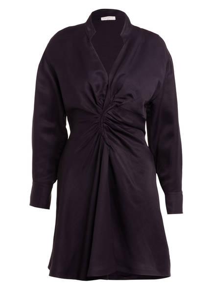 sandro Kleid mit Leinen , Farbe: DUNKELBLAU (Bild 1)