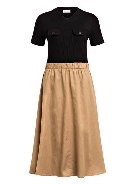 CLAUDIE PIERLOT Kleid TRACKE, Farbe: SCHWARZ/ HELLBRAUN (Bild 1)