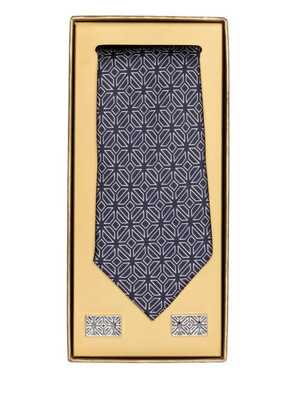 TED BAKER Set HENDASA: Manschettenknöpfe und Krawatte, Farbe: DUNKELBLAU (Bild 1)