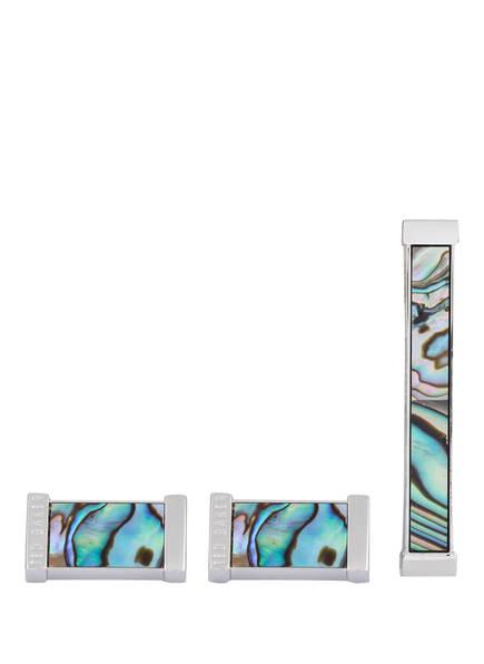 TED BAKER Set PINSAL: Manschettenknöpfe und Krawattennadel, Farbe: GRÜN (Bild 1)