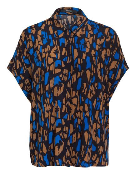 someday Oversized-Hemdbluse ZAMIKE, Farbe: DUNKELBLAU/ CAMEL/ BLAU (Bild 1)