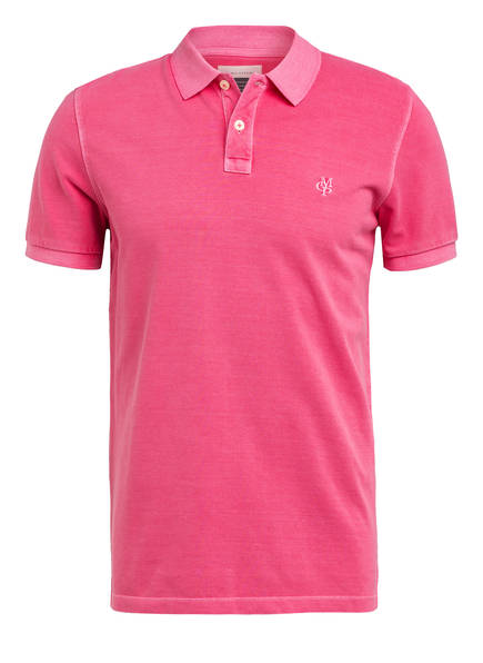 Marc O'Polo Piqué-Poloshirt Regular Fit, Farbe: PINK (Bild 1)