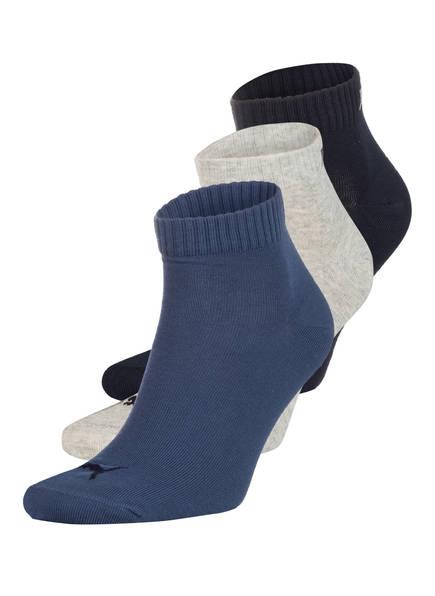 PUMA 3er-Pack Socken QUARTERS, Farbe: 532 MARINE/WEISS/BLAU (Bild 1)