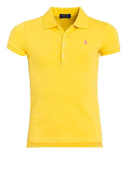 POLO RALPH LAUREN Piqué-Poloshirt, Farbe: GELB (Bild 1)