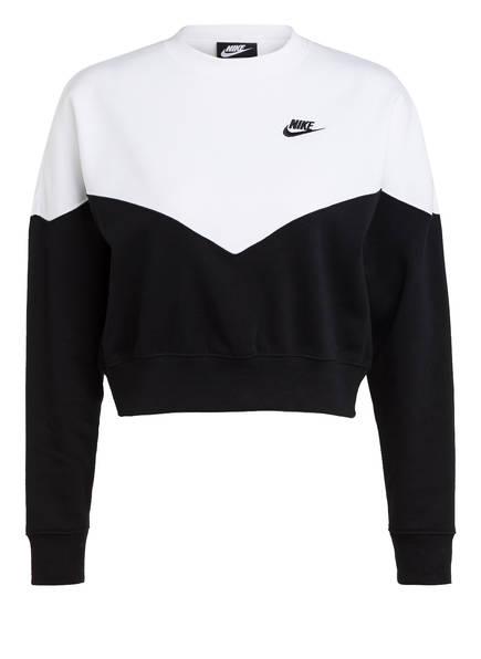 Nike Sweatshirt HERITAGE, Farbe: SCHWARZ/ WEISS (Bild 1)