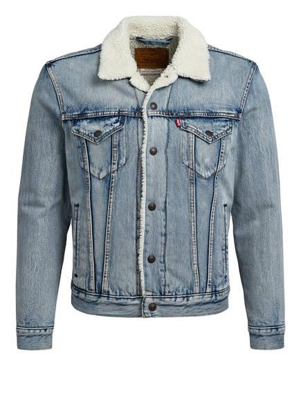 Levi's® Jeansjacke SHERPA mit Kunstfellbesatz, Farbe: HELLBLAU (Bild 1)