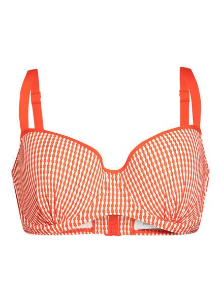 PrimaDonna Balconette-Bikini-Top ATLAS, Farbe: ORANGE/ WEISS (Bild 1)