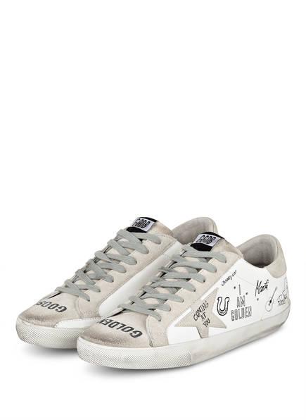 GOLDEN GOOSE DELUXE BRAND Sneaker SUPERSTAR, Farbe: WEISS/ GRAU (Bild 1)