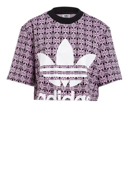 adidas Originals Cropped-Shirt TREFOIL, Farbe: FLIEDER/ SCHWARZ (Bild 1)