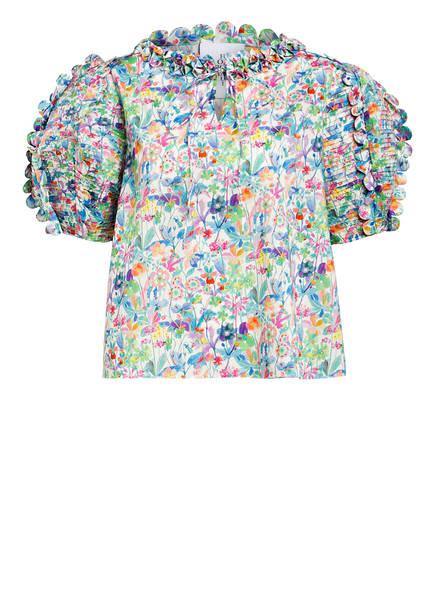 HORROR VACUI Blusenshirt FANNY, Farbe: WEISS/ BLAU/ HELLLILA (Bild 1)